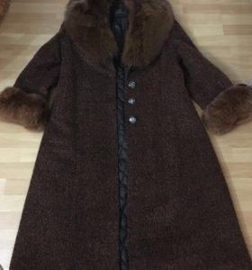 Зимнее пальто размер 50