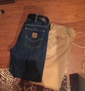 Джинсы carhartt и брюки Tommy Hilfiger .