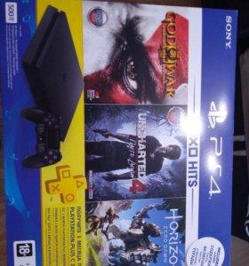 Новая Playstation 4 Slim c играми,гарантия+ps plus