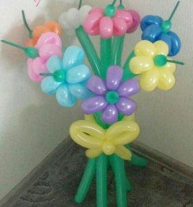 Букет из шаров 9 цветочков