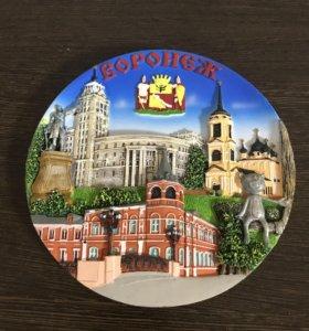 Сувенирная тарелка на стену Воронеж