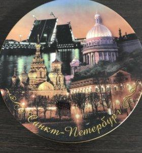 Керамическая тарелка,сувенир,на стену