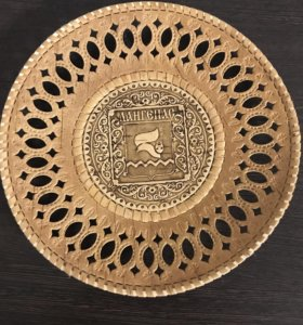 Тарелка из бересты,сувенир,на стену