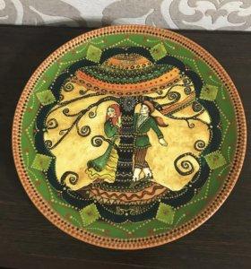 Керамическая тарелка,на стену,сувенир