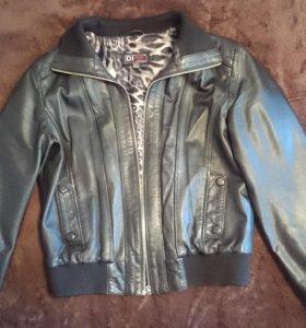 Куртка бомбер кожа натуральная