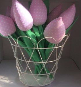 Тюльпаны текстильные