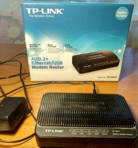 Tp-link Adsl модем, ethernet, usb, modem router