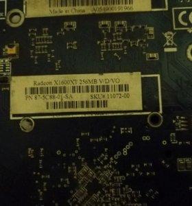 Видеокарта RADEON X1600 XT.