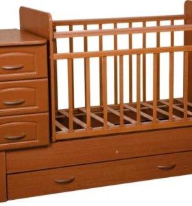 Детская кроватка трансформер-маятник