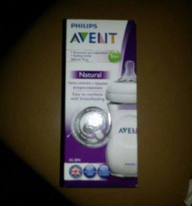 Бутылка Avent, набор сосок Avent