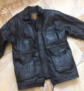 Кожаная мужская куртка 54-56