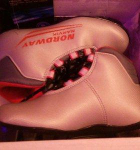 Лыжные ботинки NORDWAY. Размер 32.