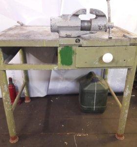 Верстак железный с тисками ( тиски 120мм)