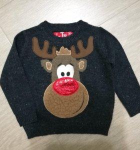 Новый свитер 9-12 мес
