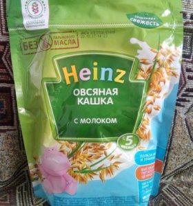 Кашки Heinz с молоком (овсяная, рисовая).