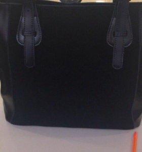 Новая сумка натуральная замша-кожа