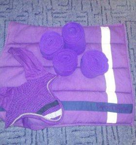 Продам фиолетовый комплект на лошадь