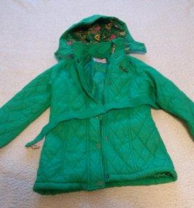 Пальто на теплую осень-весну для девочки