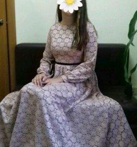 Платье натуральный шёлк.