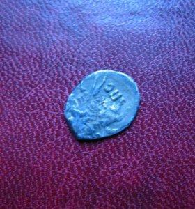 Монета-чешуйка. Годунов Б.Ф. Серебро. Оригинал.