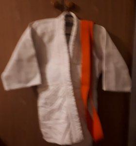 кимоно на ребенка 5-8 лет с поясом
