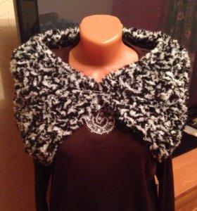Дизайнерский шарф ручной вязки