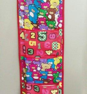 Кармашки в кабинку детского сада