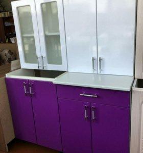 Кухня Эко 1,2 Белый/фиолетовый