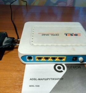 Adsl модем/маршрутизатор qdsl-1040