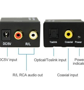Аудио конвертер (оптика, коаксиал на аналог)