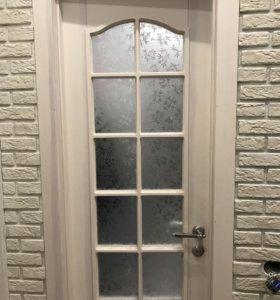 Дверь межкомнатная остекленная