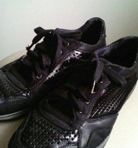 Мужские туфли, кожа