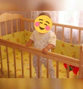 Кроватка детская с ортопедическим матрацем