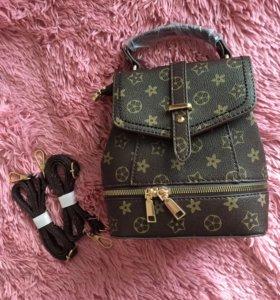Рюкзак-сумка новый LV