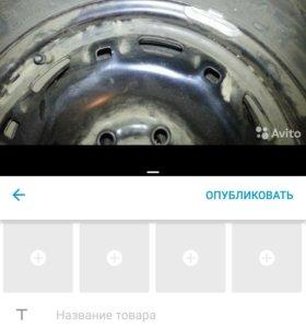 колесо для шкода фабиа165/70R14 диск 5J14