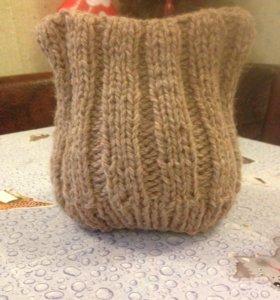 Новая шапка. Ручная вязка.
