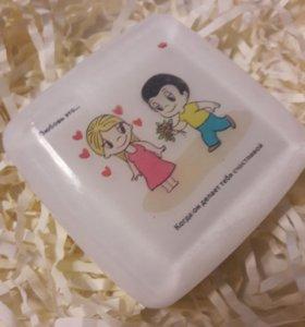 """Сувенирное мыло """"love is..."""" и мишка тедди"""