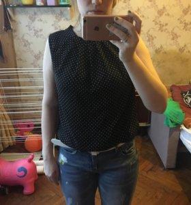 Блузка mango топ шифон