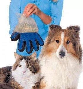 Перчатки для вычеса шерсти