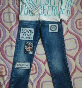 Комплект джинсы +свитшот