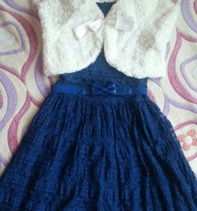 Комплект платье+болеро