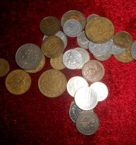 Импортные монеты.