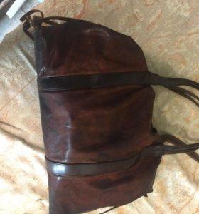 Винтажная сумка из натуральной кожи