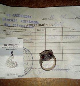 Серебрянное кольцо-сова
