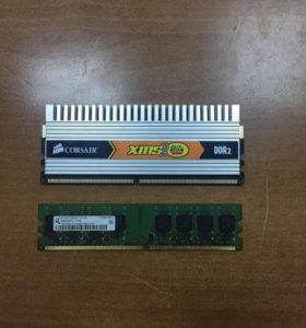 DDR2 512 мб, 1 гб, 2 гб