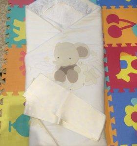 Зимний конверт для новорожденных