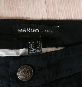 Темно-синие брюки Mango