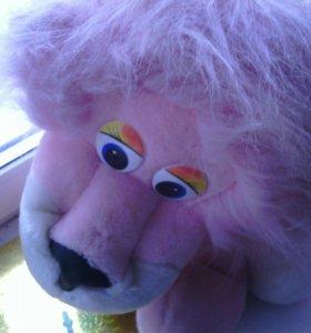 Мягкая игрушка- розовый львёнок