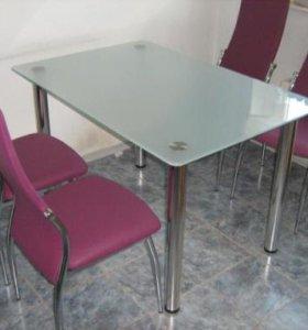 Стеклянный стол Эксклюзив 2