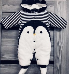 Утеплённый Комбинезон пингвин